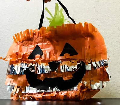 How to Make a Jack O Lantern Pinata Treat Bag