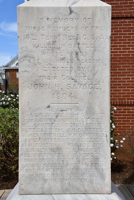Warren County Civil War Memorial (McMinnville, Tennessee)