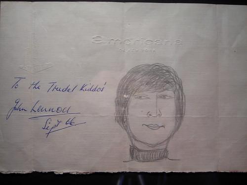 My *not* Lennon-Trudel autograph