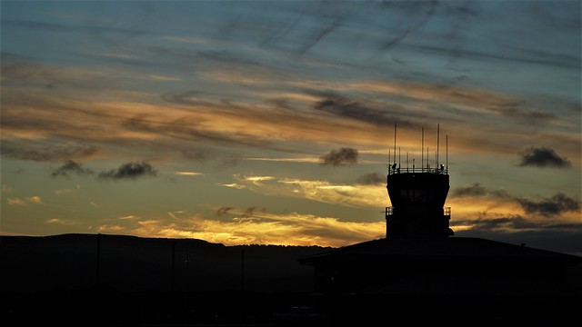 Sunset at Hoolehua Airport