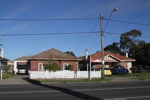 Heritage listed concrete houses at 55 - 57 Hampshire Road, Sunshine