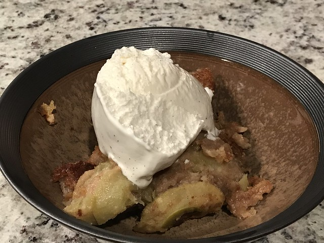 Brown sugar apple pudding