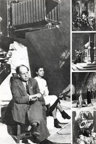 Sergei Eisenstein at the set of Ivan Groznyy (1943)