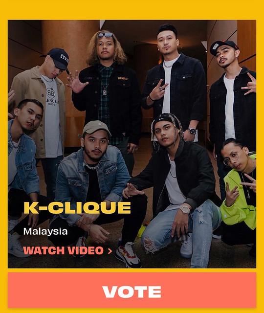 K-Clique Calon Anugerah Muzik Eropah MTV 2020