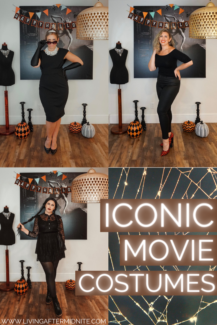 Wednesday Addams | Sandy from Grease | Breakfast at Tiffany's | Iconic Movie Halloween Costumes | Women Movie Costumes | Iconic Halloween Costumes | Easy Halloween Costumes | Costumes from your Closet | DIY Halloween Costumes Inspired by your Favorite Character