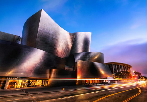 los angeles night nikon d810 tokina wide angle frank gehry disney concert hall long exposure atx pro 28 sunrise city cityscape architecture morning