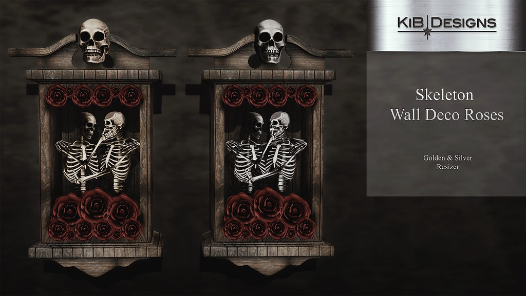 KiB Designs – Skeleton Wall Deco Roses @Hallow Manor