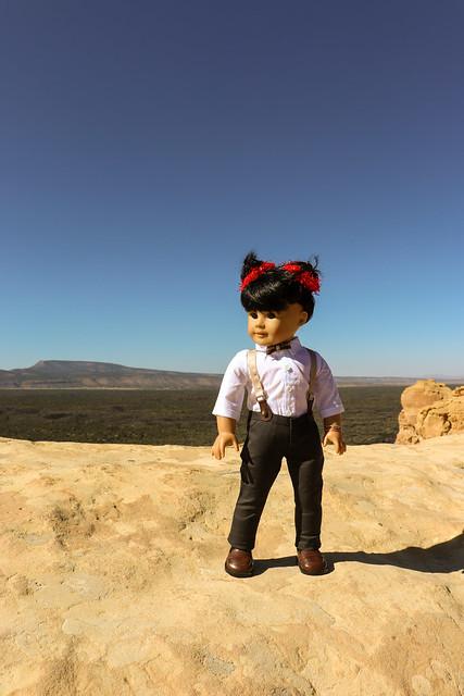 Inky at Sandstone Bluffs, El Malpais