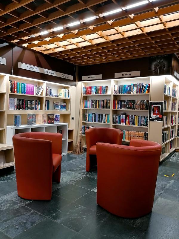 Una esquina de la librería Brugse Boekhandel