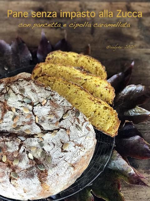 pane senza impasto alla zucca