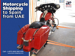 Motorcycle Shipping to Spain from UAE