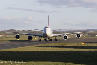 LX-VCK Boeing 747-8F Cargolux Prestwick airport EGPK 20.03-20