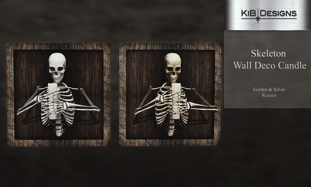 KiB Designs – Skeleton Wall Deco Candle @Hallow Manor