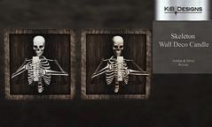KiB Designs - Skeleton Wall Deco Candle @Hallow Manor