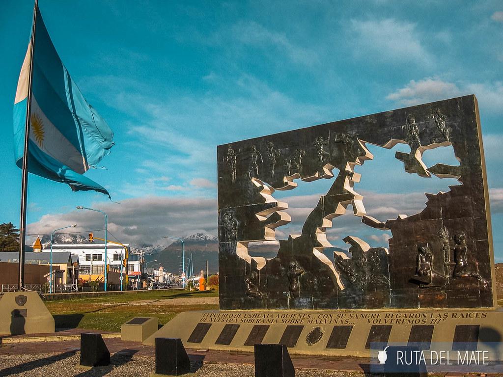 Plaza Isla Malvinas de Ushuaia