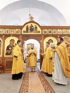 12.10.2020 | Литургия в Спасском соборе Свято-Юрьева монастыря