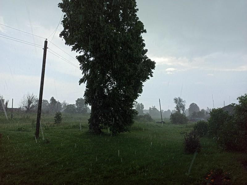 Гроза и дождь