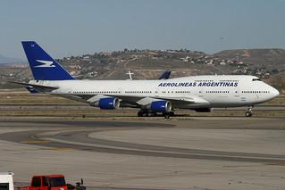 LV-ALJ. B-747/400. Aerolineas Argentinas. MAD.