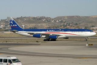 CC-CQE. A-340/300. LAN Chile. MAD.