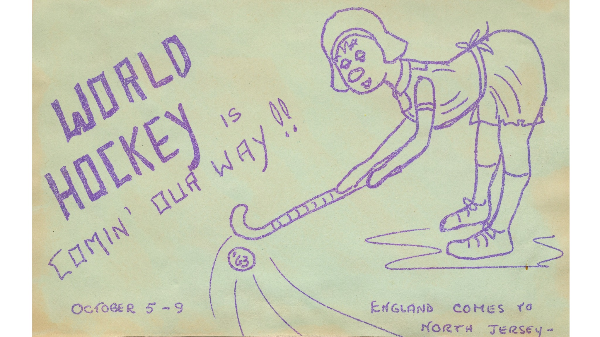 'World Hockey is Comin' Our Way!', 1963 (Carol Bryant A/17)