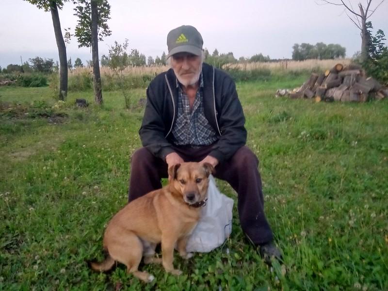 Старостин Валерий с собакой