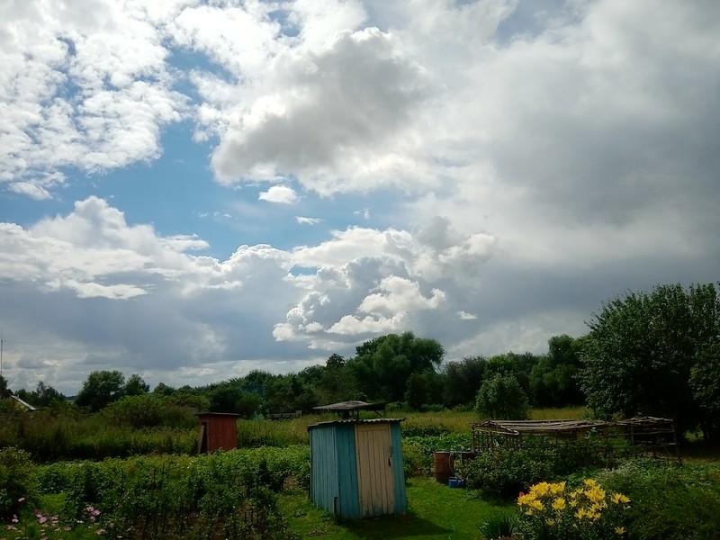 Облака над садом