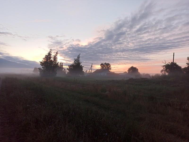 Туманная дорога на деревню
