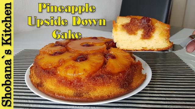 Pineapple Upside - Down Cake Recipe By Shobana`s Kitchen