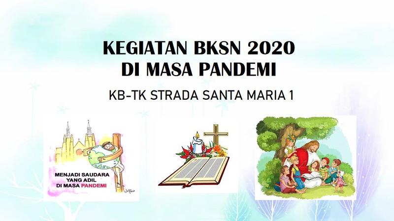 KEGIATAN BULAN KITAB SUCI TAHUN 2020 DI KB/TK STRADA SANTA MARIA 1
