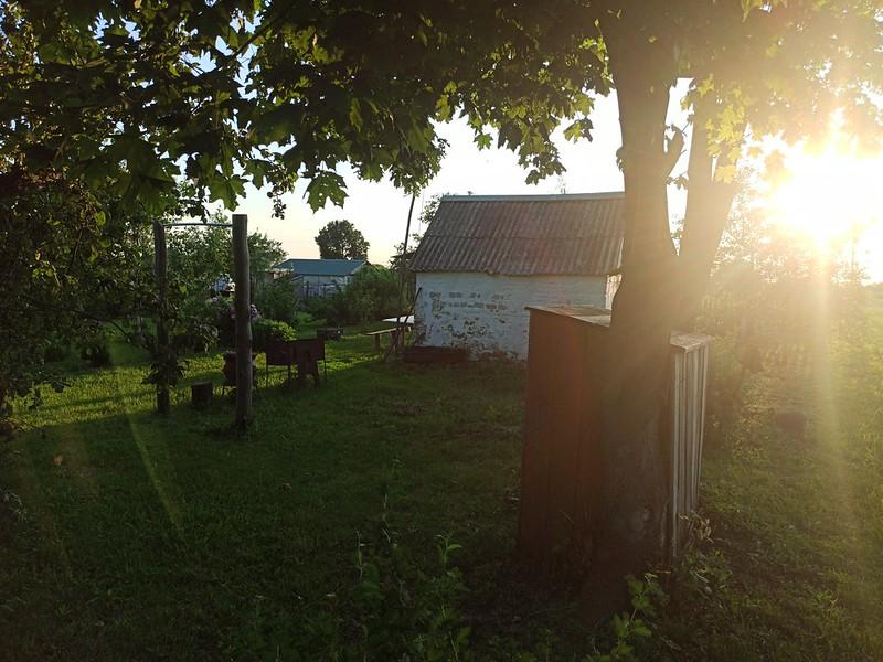 В саду