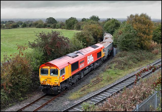 Golborne, Edge Green, GBRf 66783 6F64 (14.10 Tuebrook Sdgs - Ashton-in-Makerfield Hanson) 12/10/20.