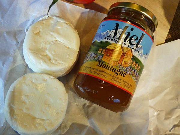 miel et fromages de chèvre