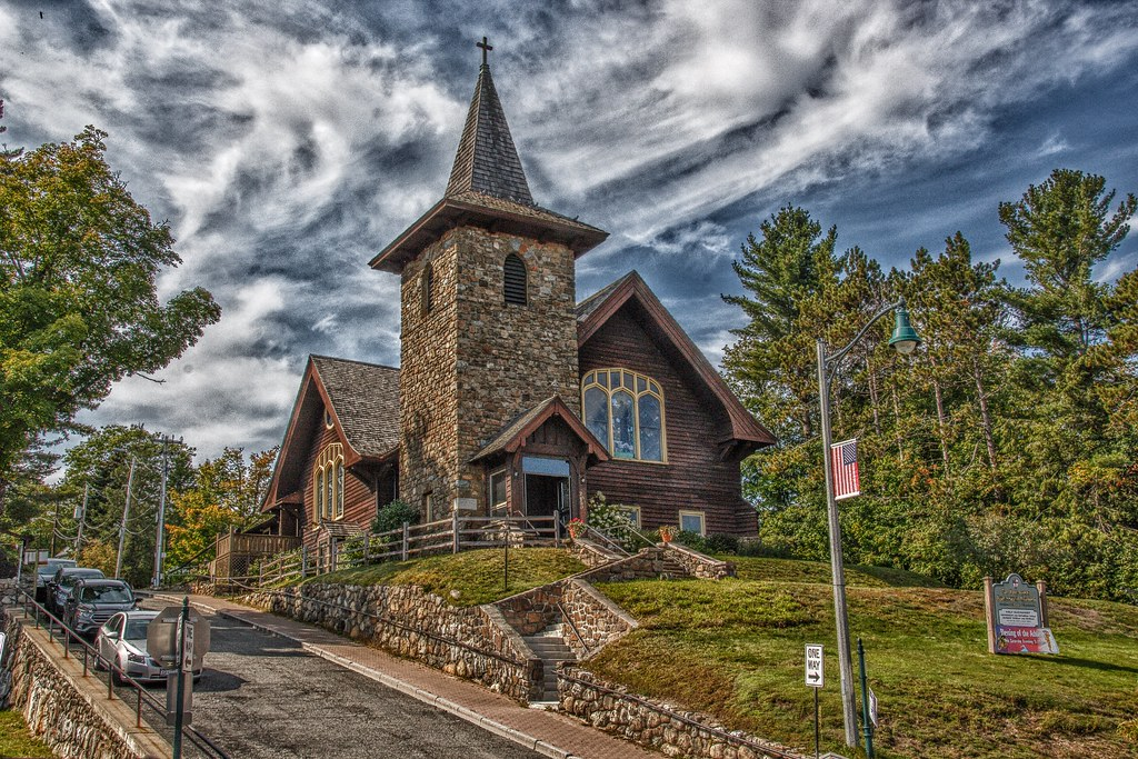 Lake Placid New York - St. Eustace's Church - Exterior