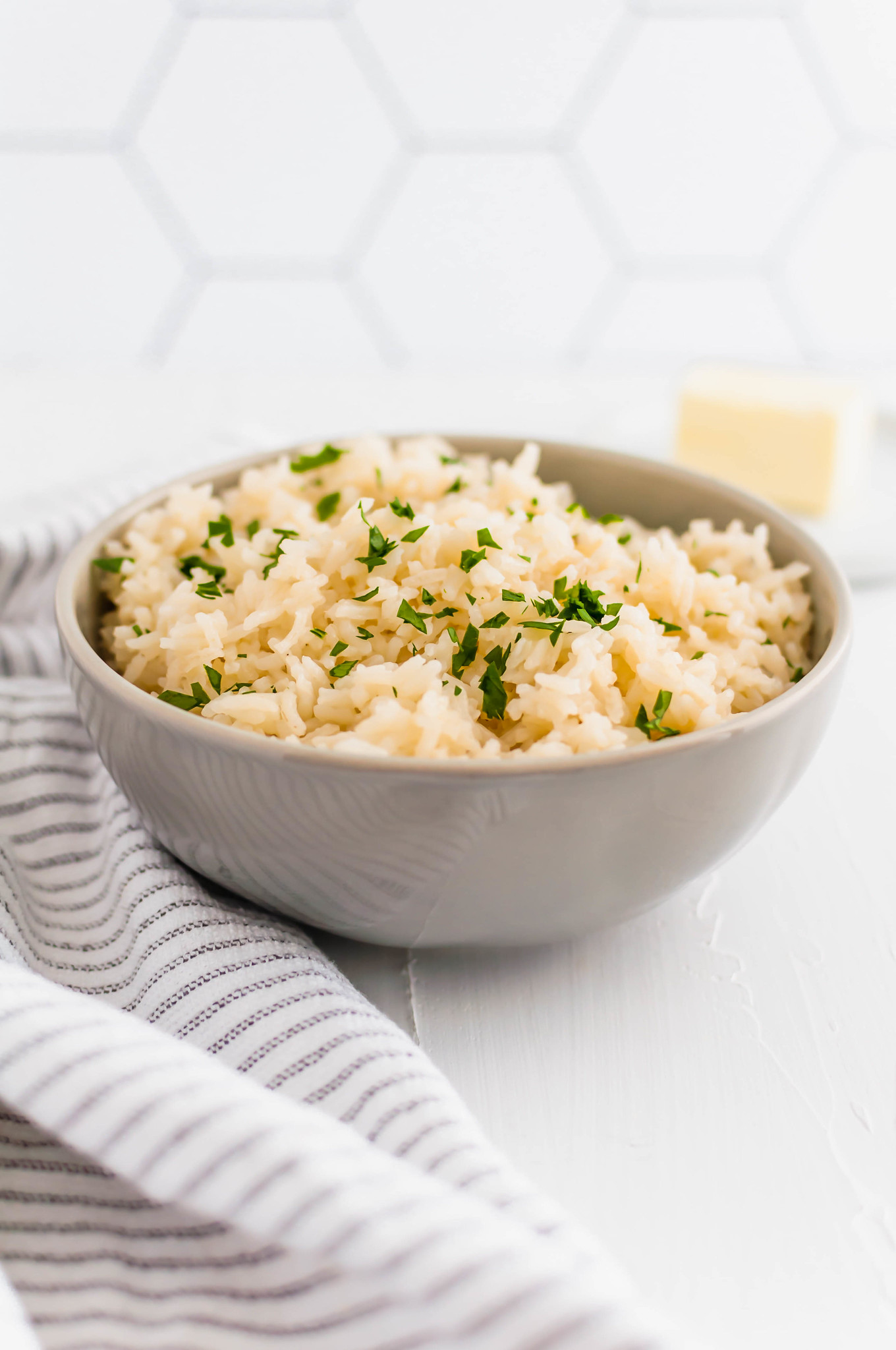 Get ready for the best rice of your life. This Butter Rice is packed with rich, buttery flavor. Chicken stock adds another flavor dimension.
