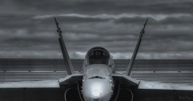 F-18 Hornet in  Black and White
