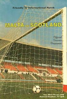 Malta v Scotland 19880322