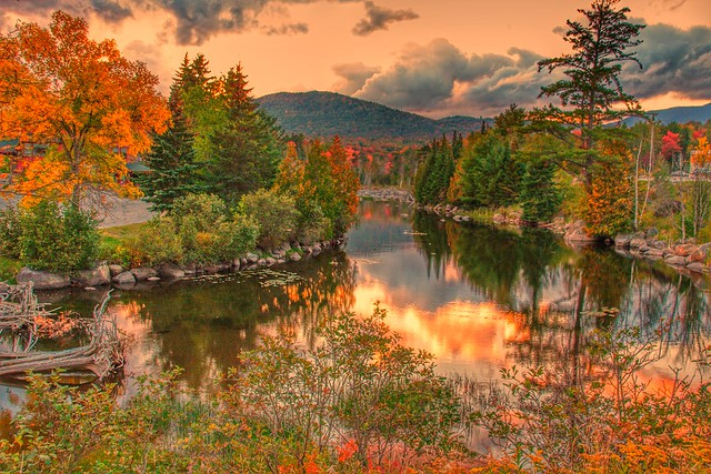 Lake Placid - New York  ~ Adirondack Mountains  ~ Historical - Sunset Reflection