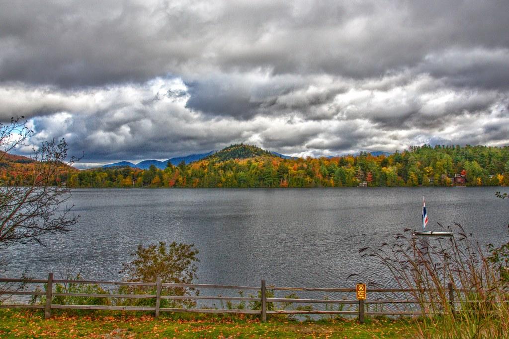 Lake Placid - New York - Mirror Lake - Sail Boat - Downtown