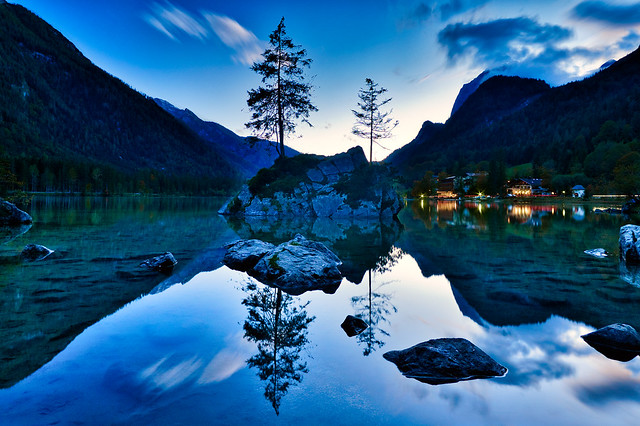 Abends am Hintersee.