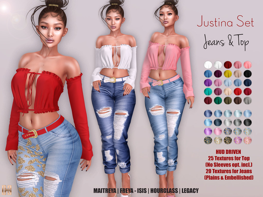 Hilly Haalan – Justina Jeans and Top Set