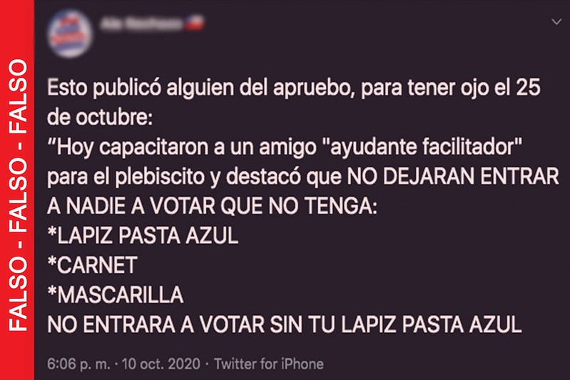 Plebiscito: No podrán ingresar al local de votación quienes no porten su lápiz azul