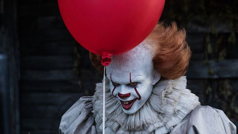 Pennywise red balloon in Abandoned house It
