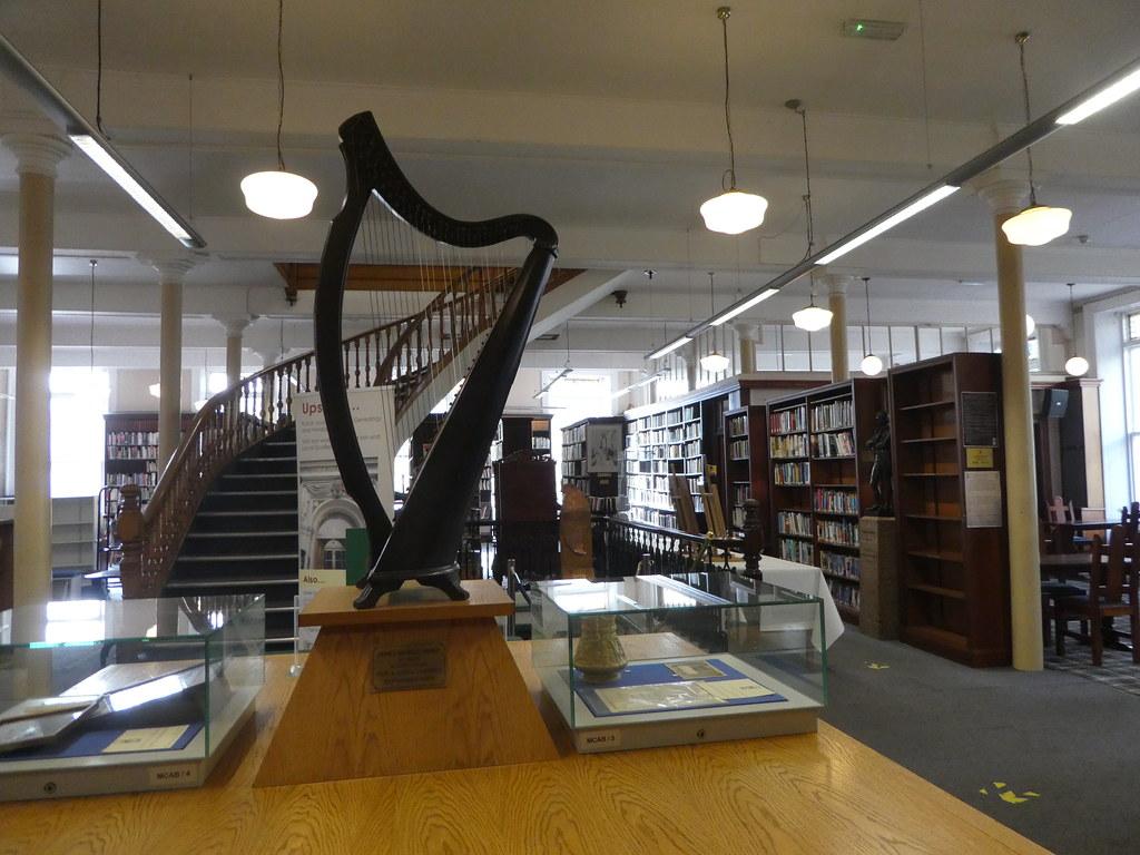 Harp in Linen Hall Library, Belfast