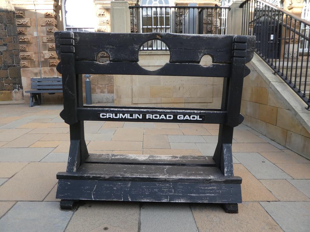 Stocks at Crumlin Road Gaol
