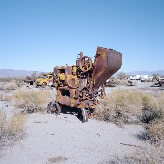 rusty cement mixer. desert center, ca. 2019.