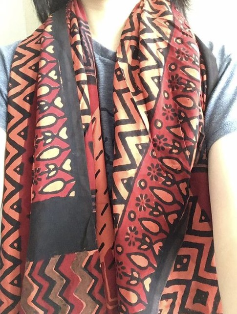 Pure silk lovely pattern India scarf