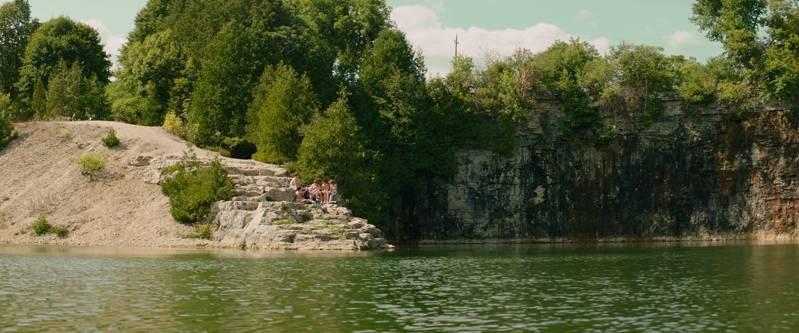 Quarry lake kids swimming