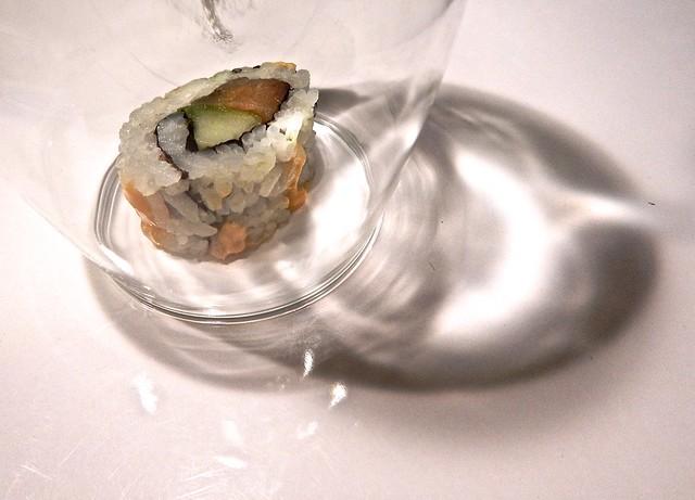 Sushi Under Glass