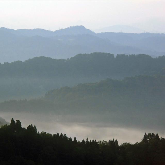 Morning View from Matsudai Shibatoge Onsen