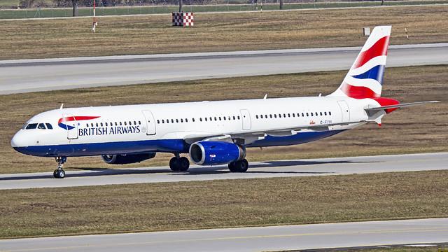 British Airways Airbus A321 G-EUXI Munich (MUC/EDDM)
